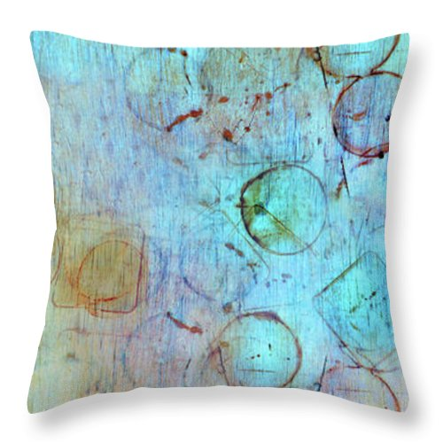 Abstract Throw Pillow featuring the digital art The Beauty In Shapes by Tara Turner