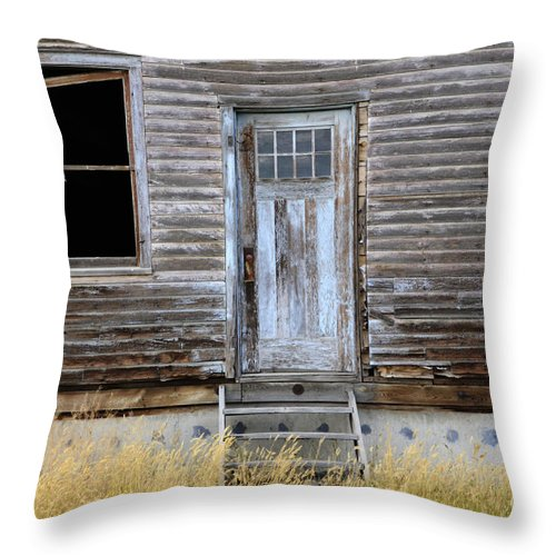 Door Throw Pillow featuring the photograph The Blue Door by Bob Christopher
