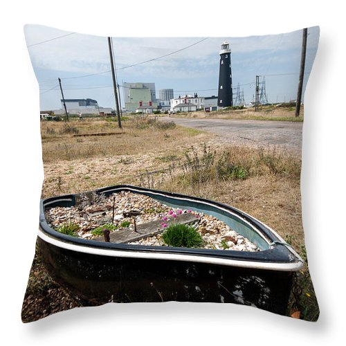 Boat Throw Pillow featuring the photograph The Boat Garden by Dawn OConnor