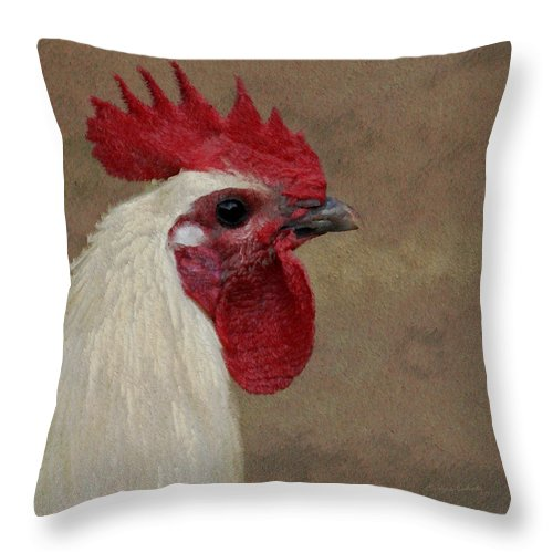Rooster Throw Pillow featuring the photograph The Boss by Ernie Echols