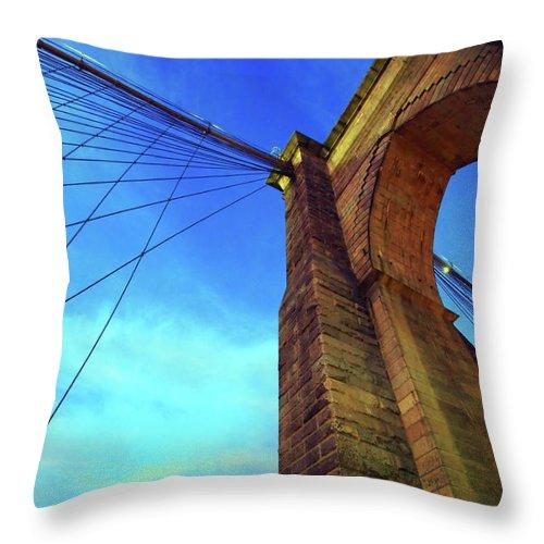 Brooklyn Throw Pillow featuring the photograph The Brooklyn Bridge by Rick Berk