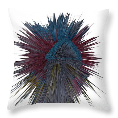 Chinese Firecracker Throw Pillow featuring the digital art The Bullet That Hit Superman by Robert Margetts