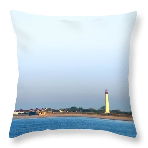 Cape May Throw Pillow featuring the photograph The Cape - Cape May Lighthouse by Bill Cannon