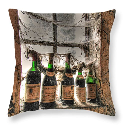 Winery Throw Pillow featuring the photograph The Cellar Window by William Fields