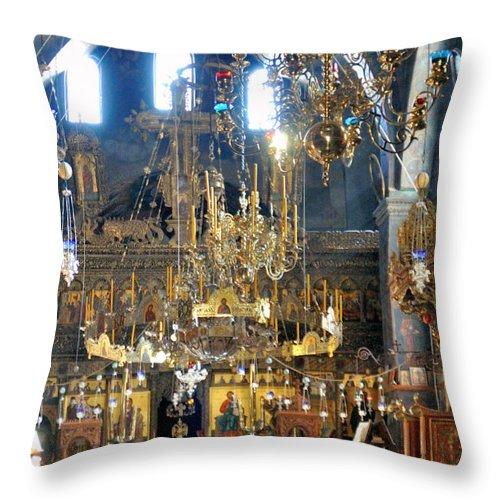 Church Throw Pillow featuring the photograph The Church by Munir Alawi