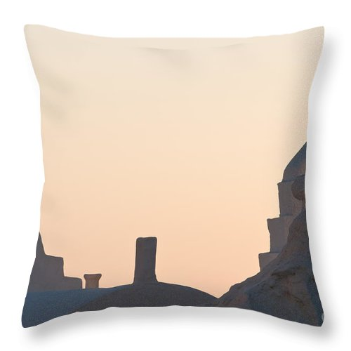 Arches Throw Pillow featuring the photograph The Church Of Panagia Paraportiani by Kim Pin Tan