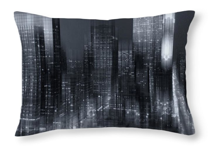 Minneapolis Throw Pillow featuring the photograph The City Comes Alive At Night by Angela King-Jones