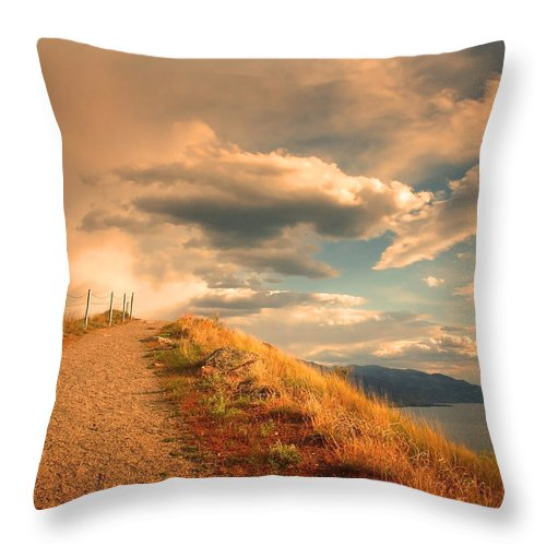 Clouds Throw Pillow featuring the photograph The Cloud Path by Tara Turner