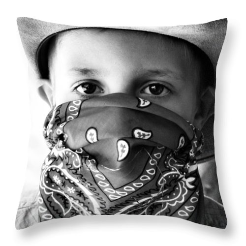 Cowboys Throw Pillow featuring the photograph The Cowboy by Sally Bauer