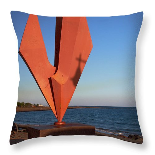 Lehtokukka Throw Pillow featuring the photograph The Cross by Jouko Lehto
