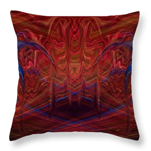 The Dance Throw Pillow featuring the digital art The Dance by Ernie Echols
