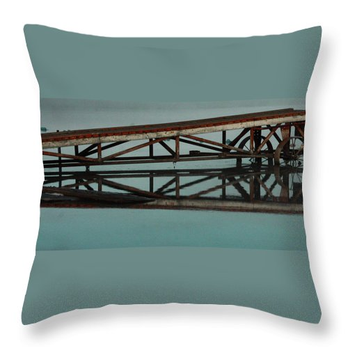 Street Photography Photographs Framed Prints Photographs Framed Prints Throw Pillow featuring the photograph The Docks by The Artist Project