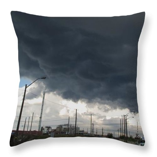 Clouds Throw Pillow featuring the photograph The End Came Quickly by Ian MacDonald