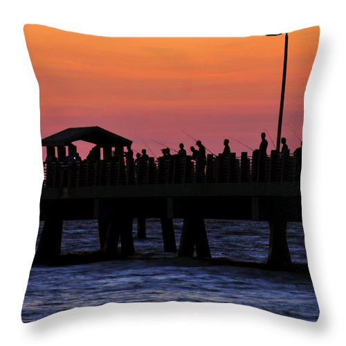 Fine Art Photography Throw Pillow featuring the photograph The Evenings Cast by David Lee Thompson