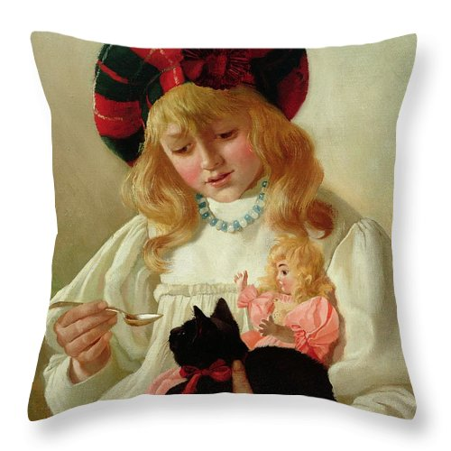 Sweet Throw Pillow featuring the painting The Favorites by CH Blair
