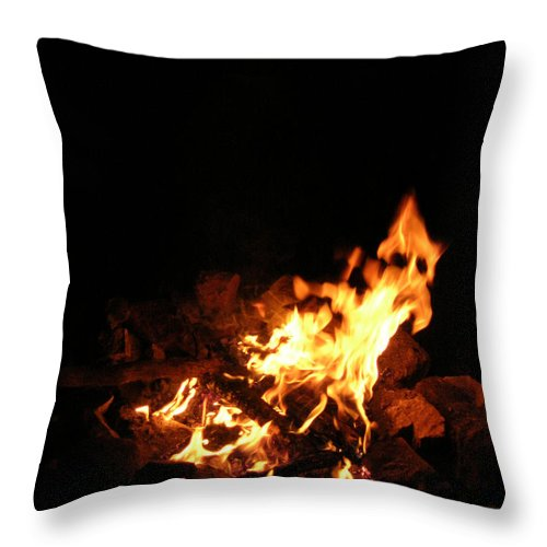 Fire Throw Pillow featuring the photograph The Fire Inside by Anthony Wilkening