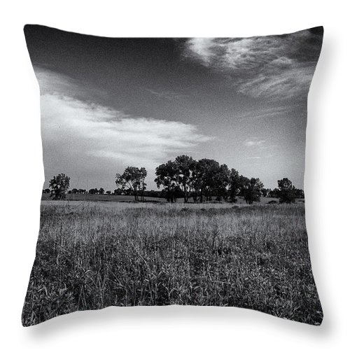 Beatrice Throw Pillow featuring the photograph The First Homestead In Black And White by Joshua House