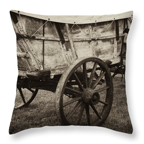 Wagon Throw Pillow featuring the photograph The First Station Wagons by Paul W Faust - Impressions of Light