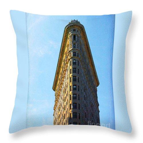 Flatiron Building Throw Pillow featuring the photograph The Flatiron by Kim Fearheiley