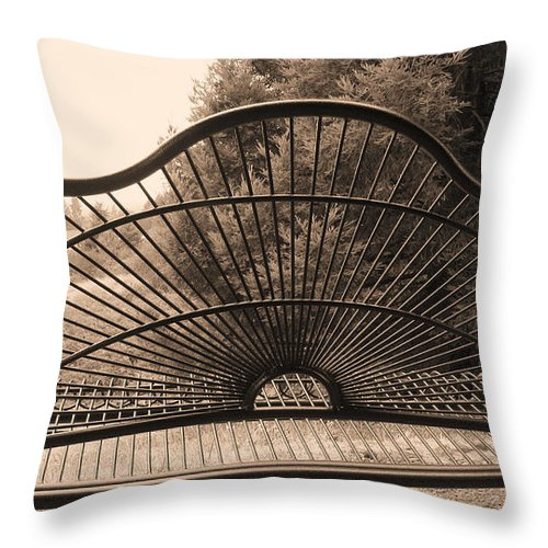 Swing Throw Pillow featuring the photograph The Garden Swing by Katie Wing Vigil