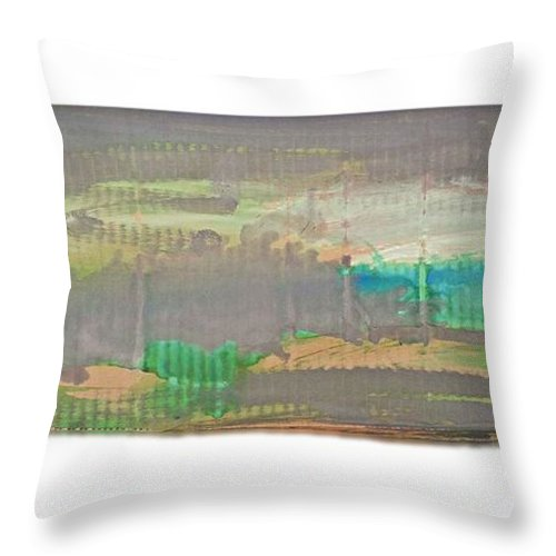 Tsunami Throw Pillow featuring the painting The Great Wave by Charles Stuart