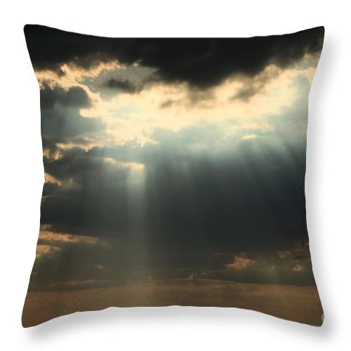 Obx Throw Pillow featuring the photograph The Heavens by Adam Jewell