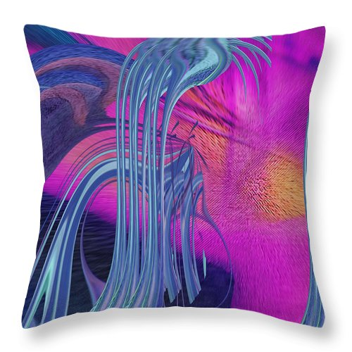 Colorful Throw Pillow featuring the digital art The Hotspot by Mike Butler