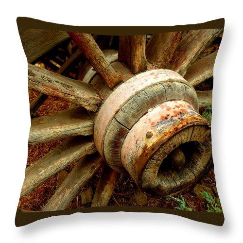 Hub Throw Pillow featuring the photograph The Hub by Lynn Bawden