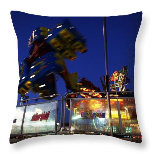 Night Photos Throw Pillow featuring the photograph The Hurricane by Jeff Swan