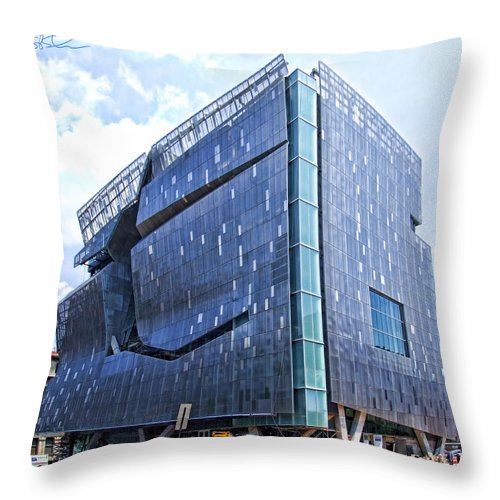 Green Architecture Throw Pillow featuring the photograph The Intrigue Box by S Paul Sahm