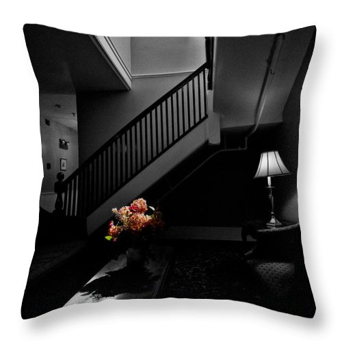 Stairway Throw Pillow featuring the photograph The Landing by Christopher Holmes