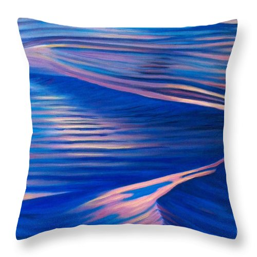 Water Throw Pillow featuring the painting The Last Embrace by Brian Commerford