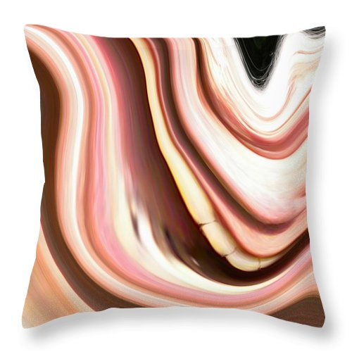 Laugh Throw Pillow featuring the painting The Laugh by Renate Nadi Wesley