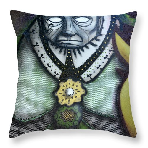 Graffiti Throw Pillow featuring the photograph The Leader by Bob Christopher