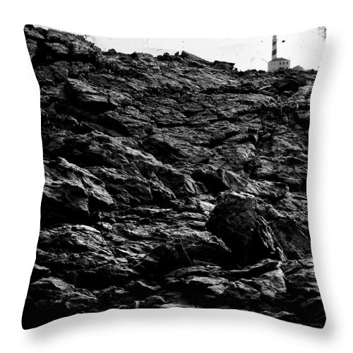 Stone Throw Pillow featuring the photograph The Lighthouse1 by Pedro Cardona Llambias