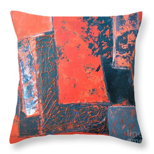 Abstract Throw Pillow featuring the painting The Ludic Trajectories Of My Existence by Ana Maria Edulescu
