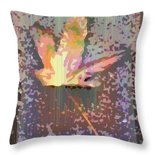 Maple Throw Pillow featuring the digital art The Maple 6 by Tim Allen