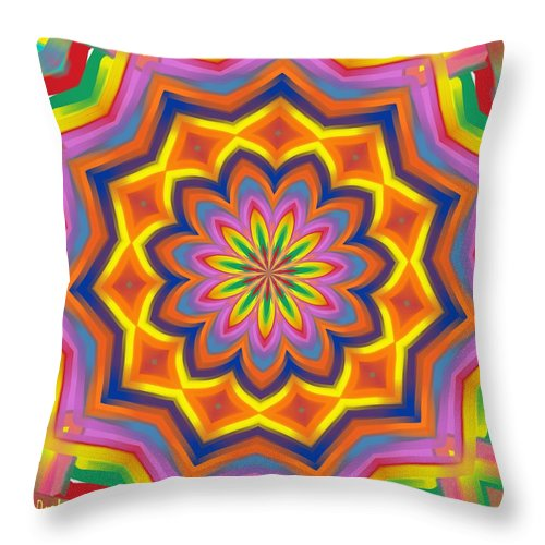 Mexican Throw Pillow featuring the digital art The Mexican Holiday by Alec Drake