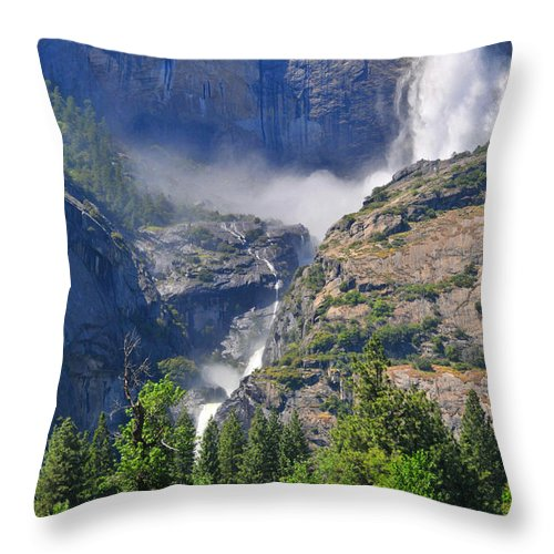 Yosemite Throw Pillow featuring the photograph The Middle by Lynn Bauer