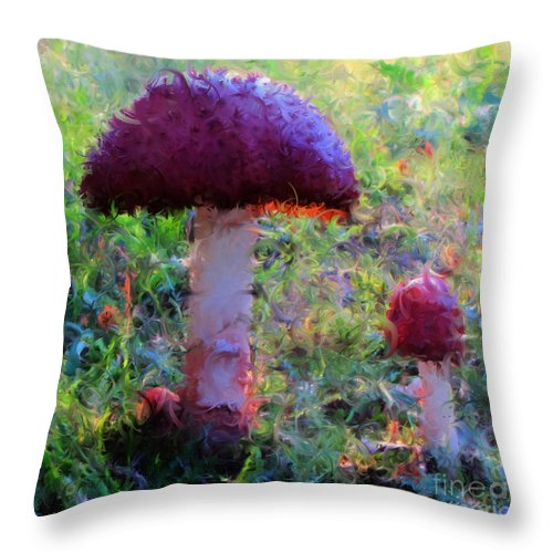 Claude Throw Pillow featuring the digital art The Monet Trip by September Stone