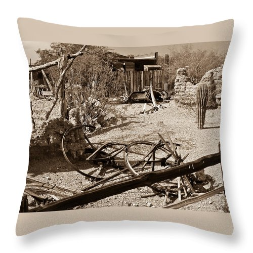 Bygone Throw Pillow featuring the photograph The Old Bygone West by Douglas Barnett