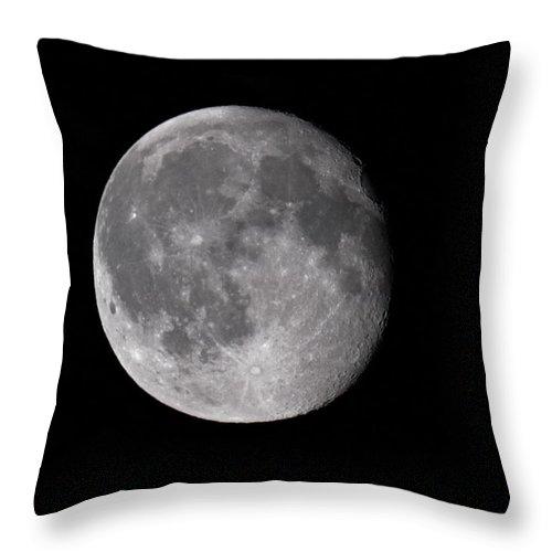 Lehtokukka Throw Pillow featuring the photograph The Old Moon by Jouko Lehto