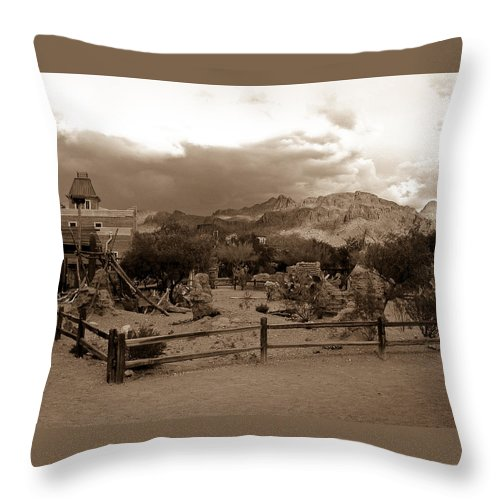 Mountain Throw Pillow featuring the photograph The Old West 1 by Douglas Barnett