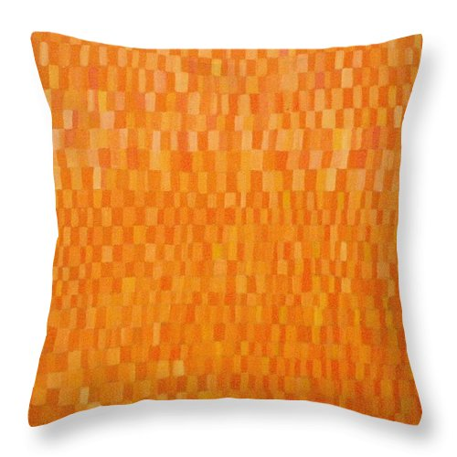 Orange Painting Throw Pillow featuring the painting The Orange One by Patrice Tullai