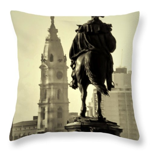 The Parkway End To End Throw Pillow featuring the photograph The Parkway End To End by Bill Cannon