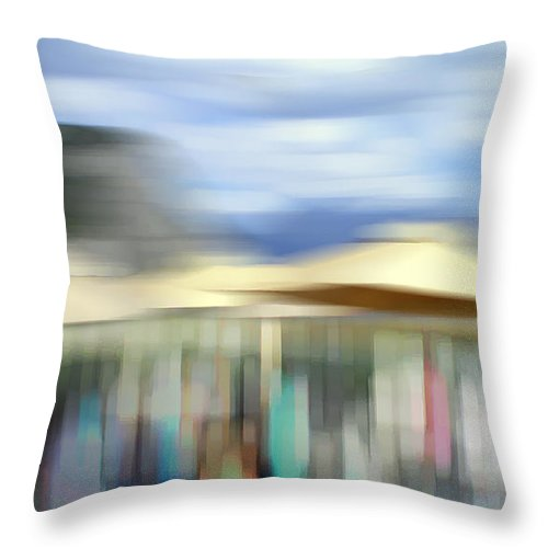 Abstract Throw Pillow featuring the photograph The Party by Robin Webster
