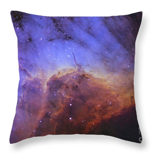 Ic5067 Throw Pillow featuring the photograph The Pelican Nebula by Ken Crawford