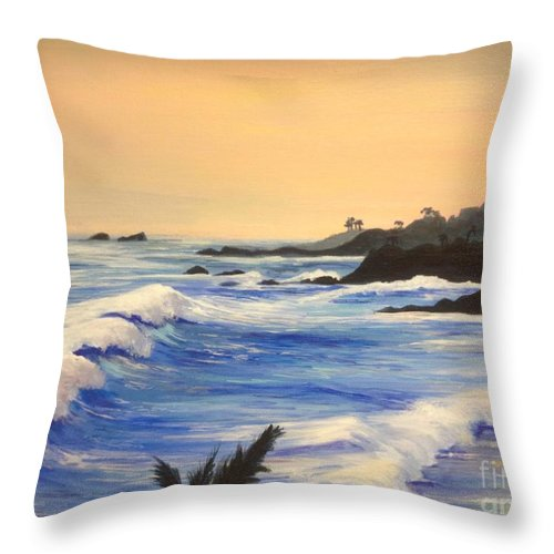 Pacific Throw Pillow featuring the painting The Perfect Day by Barbara Gilroy