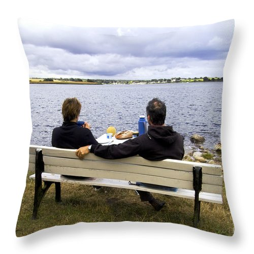 Europe Throw Pillow featuring the photograph The Picnic by Heiko Koehrer-Wagner