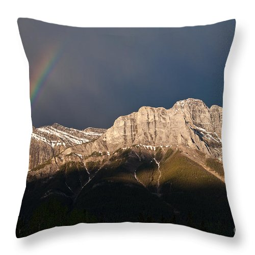 Rainbow Throw Pillow featuring the photograph The Promise by Bob and Nancy Kendrick
